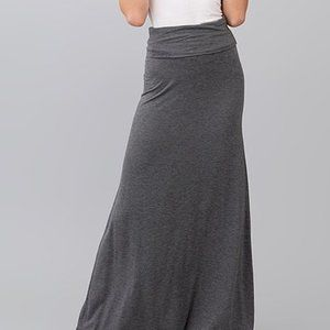 Marbled Black Fold Over Maxi Skirt